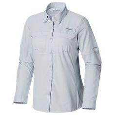 efbc87442b0 Columbia Tidal Tee II Long Sleeve T-Shirt for Ladies - Tiki Pink/White Logo  - L | Products | T shirt, Columbia, Tees