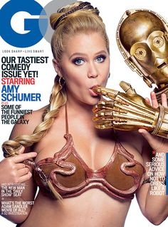 """Amy Schumer Gets Dirty With C-3PO on the Cover of """"GQ"""""""