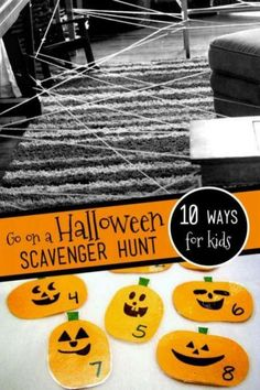 On a search for Halloween scavenger hunt ideas, I found these 10 spooky-fun hunts with pumpkins, spiders, monsters, ghosts and Halloween decorations. Halloween Activities For Kids, Outdoor Activities For Kids, Halloween Games, Outdoor Halloween, Holidays Halloween, Toddler Activities, Halloween Crafts, Happy Halloween, Halloween Party