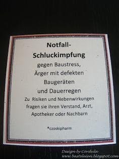 Cordulas Sammelsurium: Notfallschluckimpfung