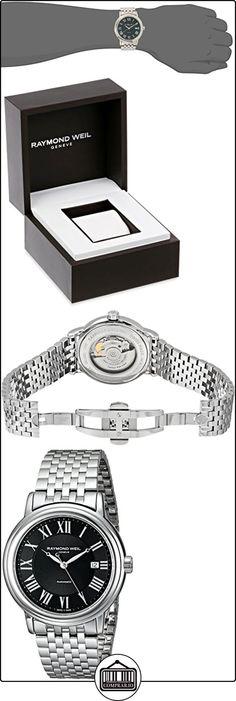 Raymond Weil Maestro Stainless Steel Mens Watch Calendar Black Dial 2847-ST-00209  ✿ Relojes para hombre - (Lujo) ✿