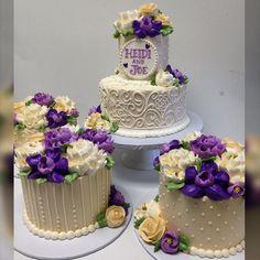"""Centerpiece cakes for a #bridalshower  #whiteflowercakeshoppe #makingclevelandsweeter #buttercream #buttercreamcakes #ilovebuttercream #buttercreamlove #instacake #cakestagram #cakesofinstagram #buttercreamflowers"" Photo taken by @whiteflowercakeshoppe on Instagram, pinned via the InstaPin iOS App! http://www.instapinapp.com (03/24/2015)"