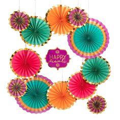 Paper Fan Decorations, Diwali Decorations At Home, Pink Party Decorations, Festival Decorations, Diwali Candle Holders, Diwali Candles, Diwali Lights, Diwali Lantern, Diwali Party