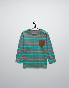 striped sweater with elbow patches - T-shirts - Baby boy (3-36 months) - Kids - ZARA United States
