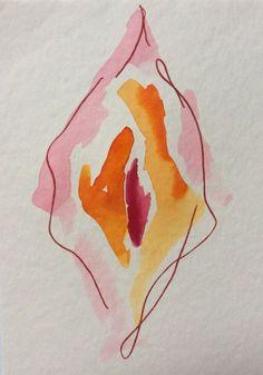 This simple fluid watercolour is part of my vulva series. Love yoself and love your vulva. These beauties are each. Art And Illustration, Mug Art, Political Art, Feminist Art, Art Graphique, Cartoon Art, Cartoon Memes, Oeuvre D'art, Erotic Art