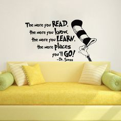 Dr Seuss Wall Decal Quote Vinyl Sticker Decals by IncredibleDecals