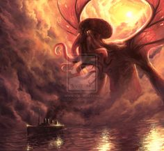 Want to discover art related to cthulhu? Check out inspiring examples of cthulhu artwork on DeviantArt, and get inspired by our community of talented artists. Lovecraft Cthulhu, Hp Lovecraft, Fantasy Creatures, Mythical Creatures, Lovecraftian Horror, Call Of Cthulhu, Star Wars Wallpaper, Hd Wallpaper, Godzilla Vs