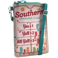 Cross-body Phone Bag - Southern Grammar Chart – Alicia Klein - Taxi Wallet - OWLrecycled