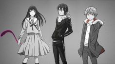 noragami wallpaper - Hiyori, Yato and Yukine