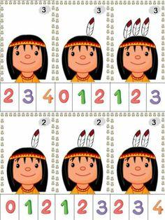Numbers Preschool, Preschool Math, Preschool Worksheets, Familia Y Cole, Pilgrims And Indians, Art Activities For Toddlers, Thanksgiving Preschool, Indian Crafts, Montessori Activities