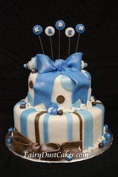 Circles n Stripes Baby Cake