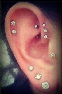 This is how I want my ears, only thing is that my lowest lobe piercing is stretched