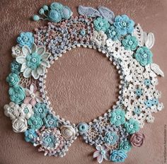 Irish Crochet Patterns, Crochet Motifs, Freeform Crochet, Lace Patterns, Crochet Designs, Learn Crochet, Crochet Leaves, Crochet Flowers, Sewing Collars