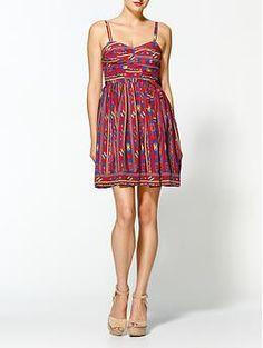 Amanda Uprichard Champagne Arizona Silk Print Dress | Piperlime