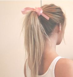 forever in love with straight ponytails and bows