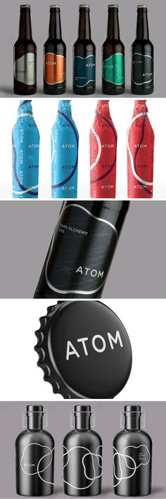 Atom Beers packaging by Thirst Come and see our new website at bakedcomfortfood.com!