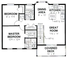 REALLY like this one!!! Garage apartment floor plan 2 bedrooms 2 ...
