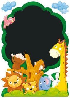 Awesome Wandbild mit Kreidetafel Wandsticker Dschungel Baum