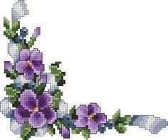 ~*Pixel Flowers*~ *great corners for borders*