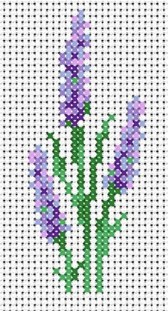 cross stitch lavender                                                                                                                                                                                 More