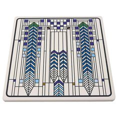 Frank Lloyd Wright CABARET DINNER Set of Two Absorbent Coasters for Cars