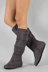 Data-11 Slouchy Round Toe Knee High Boot--I like these too.