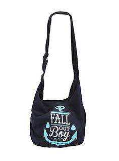 Fall Out Boy Anchor Hobo Bag,