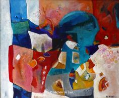 Bubbles - An abstract in acrylics by Michèle de Laat of the Hangar Abstract Artists - Abstract Vibrations IV