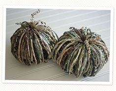 Paper pumpkins DIY.... You make them in any colors... and that way it would match your home decor