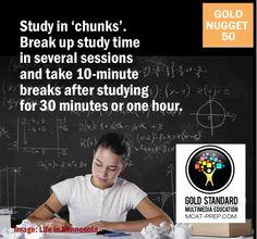 #MCAT prep tip: study in chunks for better information retention.