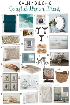 Home Interior 2019 Calming and chic coastal decor ideas.Home Interior 2019 Calming and chic coastal decor ideas Decor, Modern Coastal Decor, Coastal Farmhouse Decor, Cheap Home Decor, Home Decor, Bedroom Decor, Coastal Bedrooms, Living Decor, Funky Home Decor