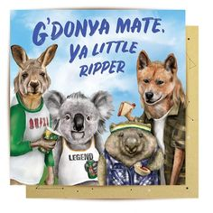 Buy Unique Australiana Gifts & Greetings Online - La La Land Advance Australia Fair, Fur Babies, Greeting Cards, Teddy Bear, Celebrities, Illustration, Gifts, Animals, Unique