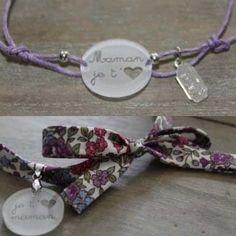 Bracelet fête des mères en plastique dingue et liberty