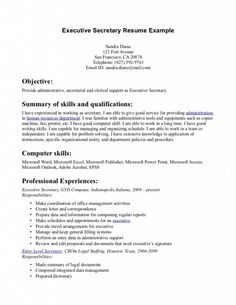 Resume Objectives For Administrative Assistant Enchanting Summary Statement Resume Sample  Resume Samples  Pinterest