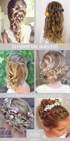 24 Cute Flower Girl Hairstyles ❤ Here you find some simple flower girl hairstyles and more complex which made by a professional. See more: http://www.weddingforward.com/flower-girl-hairstyles/ #wedding #hairstyles #flowergirl