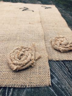BURLAP PLACE MATS Set of 6 Rustic Table by TiddlywinkDesign