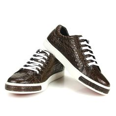 Brown Genuine Alligator Shoes
