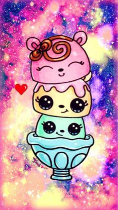 Cute Food Wallpaper, Unicornios Wallpaper, Tumblr Iphone Wallpaper, Cute Wallpaper For Phone, Kawaii Wallpaper, Galaxy Wallpaper, Disney Wallpaper, Iphone Wallpapers, Kawaii Girl Drawings