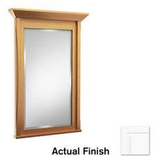 Picture Gallery For Website Kraftmaid In W X In H Dove White Rectangular Bathroom Mirror Fm
