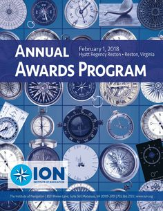 ION Annual Awards Program Cover Awards, Graphic Design, Personalized Items, Cover