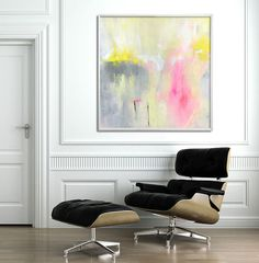 LARGE Art Giclee Print of abstract painting Nursery by DUEALBERI