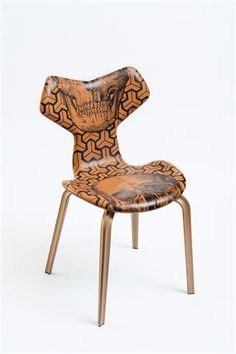 The Garden 2 - Fritz Hansen Grand Prix chair, tattoo by Pietro Sedda for Fantastic Wood project by Diego Grandi. On auction for Dynamo Camp http://www.charitystars.com/auctions?tid=565
