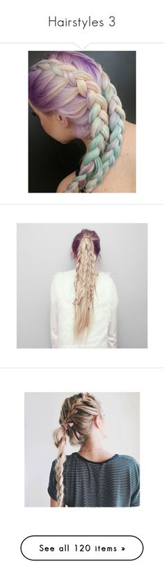 """""""Hairstyles 3"""" by aesthetic-vibes ❤ liked on Polyvore featuring hair, beauty products, haircare, hair styling tools, hairstyles, beauty, blue hair, hair color, accessories and hair accessories"""