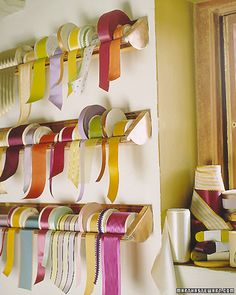 ribbon storage #craftroom