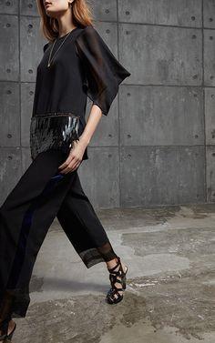 Organza Trim Trouser by ANTONIO BERARDI for Preorder on Moda Operandi