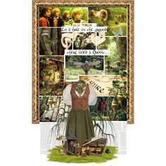 In a hole in the ground there lived a hobbit... by greenfeels on Polyvore featuring art