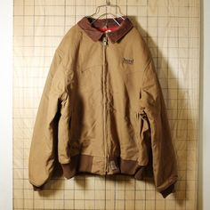 Carharttカーハート/USA製古着/ブラウン/裏地キルティング/中綿ダックジャケット/XL