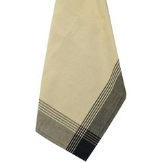 "Striped McCleod Tea Towel 20""X28""-Tea Dye & Black"