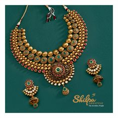 Embrace the uniqueness that defines you! Look on more beautiful collection! Follow us on Instagram: Instagram.com/shilpalifestylerajkot Like us on Facebook: Facebook.com/ShilpaLifeStyleRajkot #Jewellery #Fashion #WeddingJewellery #GoldJewellery #BridalJewellery #ShilpaLifestyle #Rajkot Silver Jewellery Indian, Gold Jewellery Design, Bead Jewellery, Gold Set Design, Gold Jewelry Simple, Schmuck Design, Jewelry Patterns, Bridal Necklace, Gold Necklace