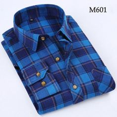 Autumn Men Shirts 2016 Long Sleeve Mens Casual Shirts Cotton Plaid Shirt Men Flannel Warm Mens Check Shirt Plus Size Slim Fit